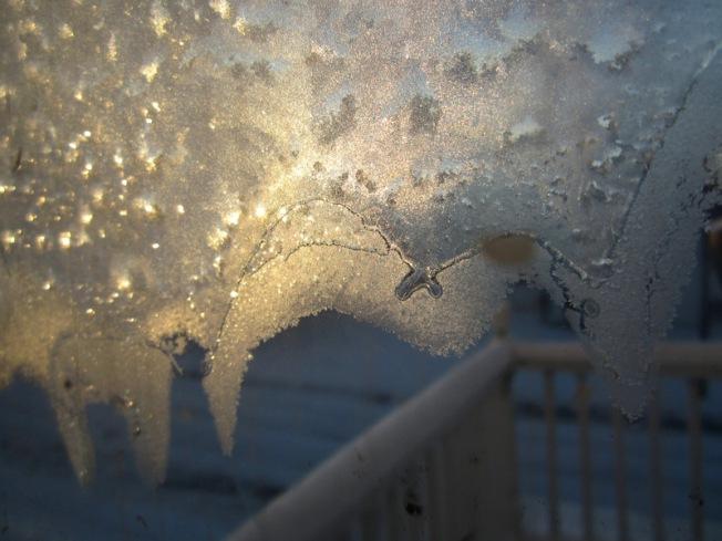 Little frost finglerlets reaching for the balcony. Ahhh!